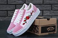 Кеды женские Vans old skool art (ванс олд скул) реплика AAA+ размер 37-40 розовый (живые фото), фото 1