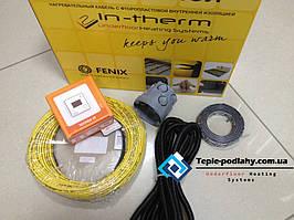 Тонкий обогревательный кабель для пола (комплект с цифровым термостатом) 2.7 м.кв.