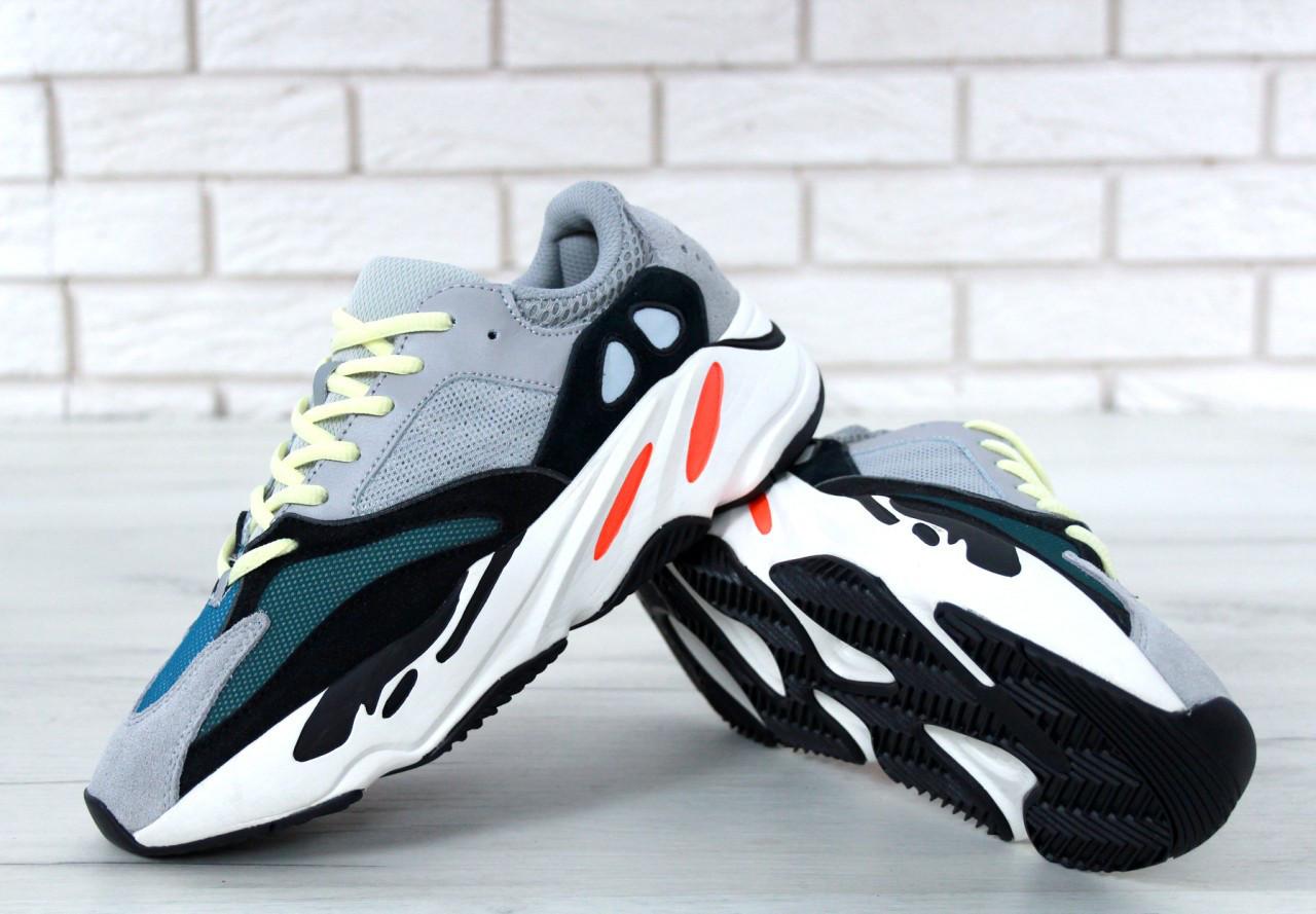907a4dbd Кроссовки Adidas Yeezy Boost 700 реплика ААА+, размер 36-44 серый (живые