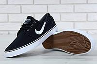 Кроссовки мужские Nike Stefan Janoski реплика ААА+ размер 41-45 черный (живые фото), фото 1