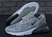 Кроссовки мужские Nike Air Max 270 реплика ААА+ размер 42-43 серый (живые фото), фото 1