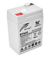 Акумулятор AGM RITAR RT645, 6V 4.5 Ah