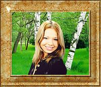 Портрет на синтетическом холсте под живопись  40*30см, фото 1
