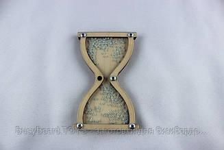 Часы песочные с бисером. Заготовка для Бизиборда по методике Монтессори