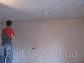 Шпаклёвка стен под поклейку обоев (с шлифовкой)