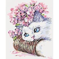Картина по номерам Кошачье утро (арт. КН2494) 40 х 50 см, фото 1