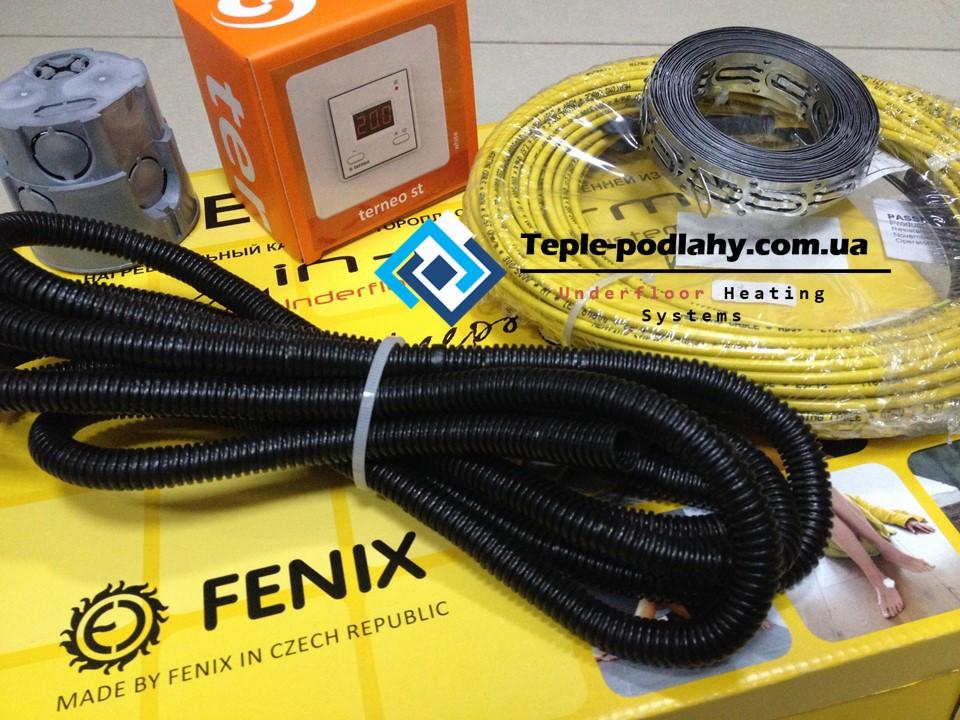 Обогревательный кабель In-therm для обогрева пола (комплект с цифровым термостатом) 3.2 м.кв.
