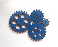 Набор шестеренок для  Бизиборда по методике Монтессори окрашеные Синие