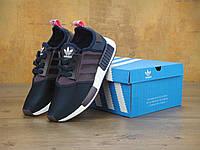 Кроссовки Adidas NMD реплика ААА+, размер 36 синий, фото 1