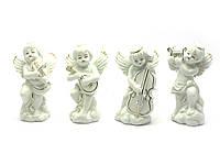 Ангелы фарфор (н-р 4 шт) (11,5х7х4,5 см)(W1407)
