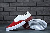 Кеды Vans Era (ванс) реплика AAA+ размер 37-45 белый/красный (живые фото), фото 1