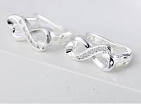 Серебряные серьги 925 пробы, серьги из стерлингового серебра, кубический цирконий, код (0104)