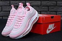 Кроссовки женские Nike Air Max 97 реплика ААА+ размер 36-39 розовый (живые фото)