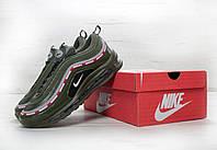 Кроссовки мужские Nike Air Max 97 реплика ААА+ размер 44 зеленый (живые фото)
