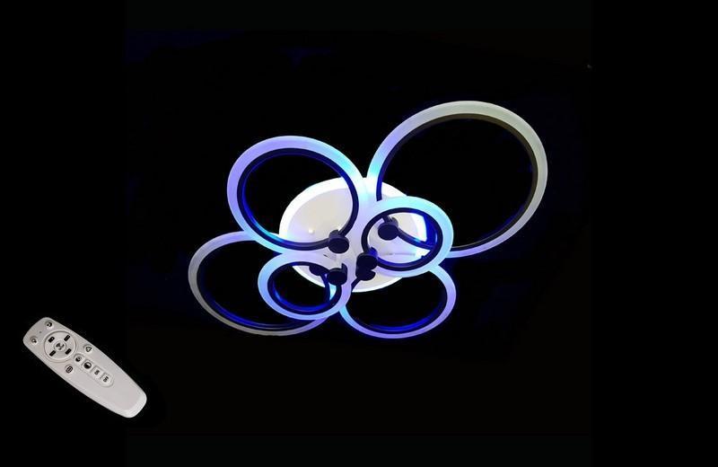 Припотолочная LED люстра с ночником и диммером 1888-6BK LED 3color dimmer