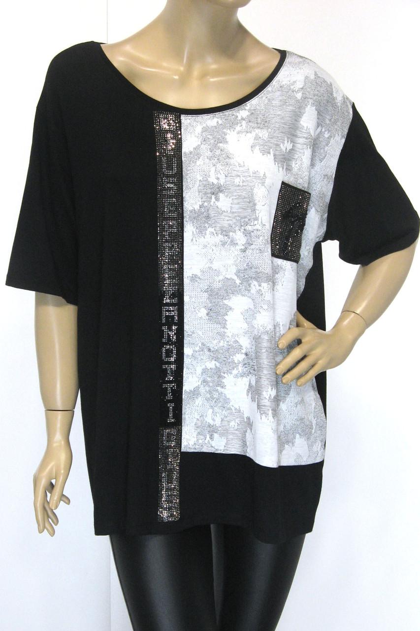Жіноча футболка  великого розміру з принтом Giuseppe Zanotti