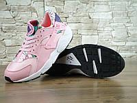 Кроссовки женские Nike Air Huarache реплика ААА+ (натуральная кожа) размер 38 розовый (живые фото), фото 1