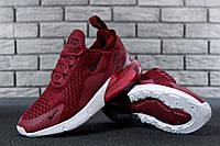 Кроссовки женские Nike Air Max 270 реплика ААА+ размер 36-40 красный (живые фото), фото 1