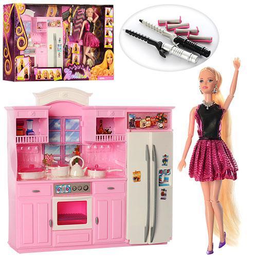 Мебель 66866  кухня31-30см, кукла29см, посуда,аксессуары,в кор-ке,60-11-33см
