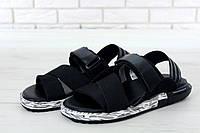 Сандали Adidas Y3 Kaohe Sandal реплика ААА+ размер 41 черный (живые фото)