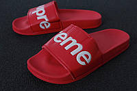 Шлепанцы Supreme Slippers реплика ААА+ размер 41-44 красный (живые фото), фото 1