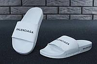 Шлепанцы женские Balenciaga Slippers реплика ААА+ размер 37-40 белый (живые фото)
