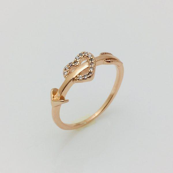Кольцо на палец Стрела и сердце, размер 16, 17, 18, 19, 20