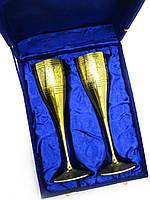 Бокалы бронзовые позолоченные(н-р 2 шт)(h-20 см(24х18,5х7,5 см)