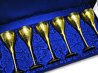 "Бокалы бронзовые позолоченые (н-р 6 шт)(h-22 см)(64х23,5х10 см)(Goblet 9""Set -6ps GOLD)"