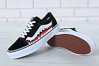 """Кеды Vans х BAPE Old Skool """"Shark""""  реплика AAA+ размер 35-45 черный (живые фото), фото 1"""