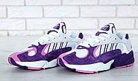 Кроссовки женские Adidas Yung-1 реплика ААА+ (нат. замша) размер 39 фиолетовый (живые фото), фото 1