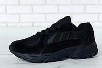 Кроссовки мужские Adidas Yung-1 реплика ААА+ (нат. замша) размер 41-45 черный (живые фото), фото 1