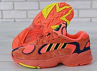 Кроссовки мужские Adidas Yung-1 реплика ААА+ (нат. замша) размер 42 оранжевый (живые фото), фото 1