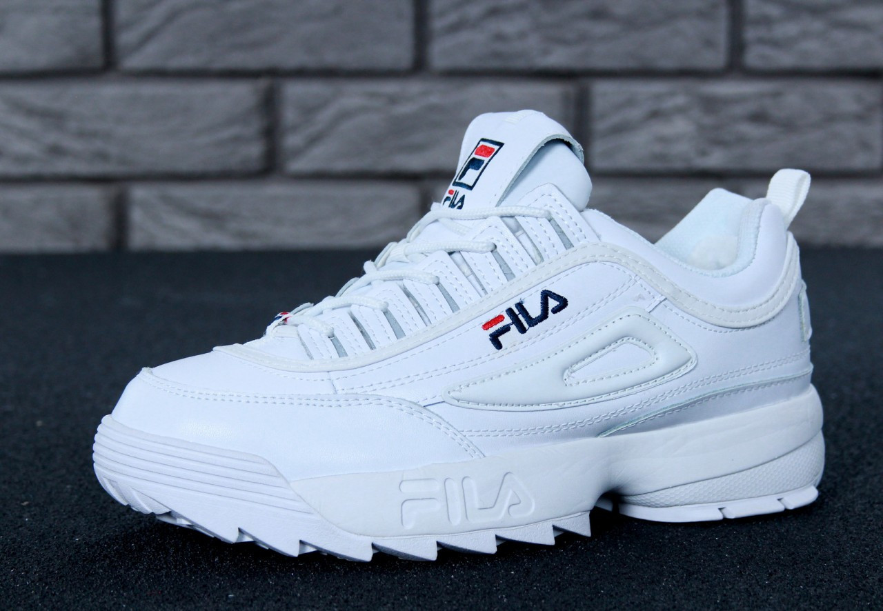 Зимние кроссовки Fila Disruptor II реплика ААА+ (натуральная кожа с мехом)  р. 42db57292e1ae