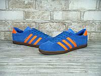 Кроссовки Adidas Dublin реплика (натуральная замша) р.43-45 синий