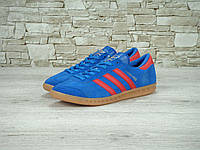 Кроссовки Adidas Hamburg реплика (натуральная замша) р.44-45 синий, фото 1