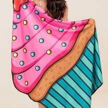 Пляжный коврик Кекс/ селфи коврик / пляжная подстилка / пляжное покрывало / пляжное полотенце , фото 2