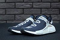 Кроссовки Adidas x Pharrell Williams Human Race NMD реплика ААА+, размер 41-42 темно-синий