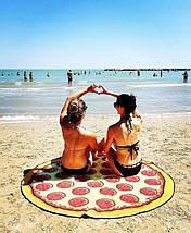 Пляжный коврик Пицца/ селфи коврик / пляжная подстилка / пляжное покрывало / пляжное полотенце , фото 3