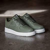 Кроссовки Nike Lab Air Force реплика ААА+ (натуральная кожа) размер 36 зеленый