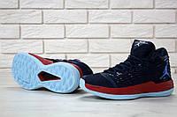 Кроссовки Nike Air Jordan реплика ААА+ размер 43 синий, фото 1