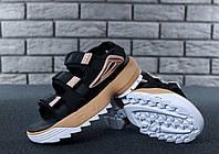 Сандали FILA Disruptor Sandals реплика ААА+ размер 36-41 черный (живые фото)