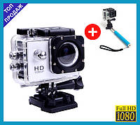 Экшн камера Sports D6000 A7 Action camera водонепроницаемый бокс А 7 Waterproof 30m + Подарок