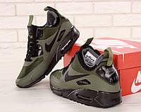 Зимние кроссовки мужские Nike Air Max 90 Mid Winter термо, реплика ААА+ р. 8b1bde7f61d