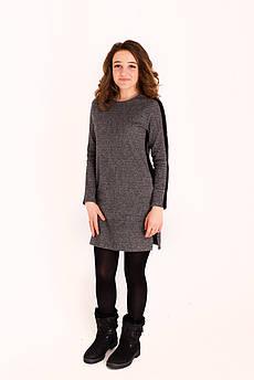 Платье Татьяна Филатова модель 171 серый с черной полосой
