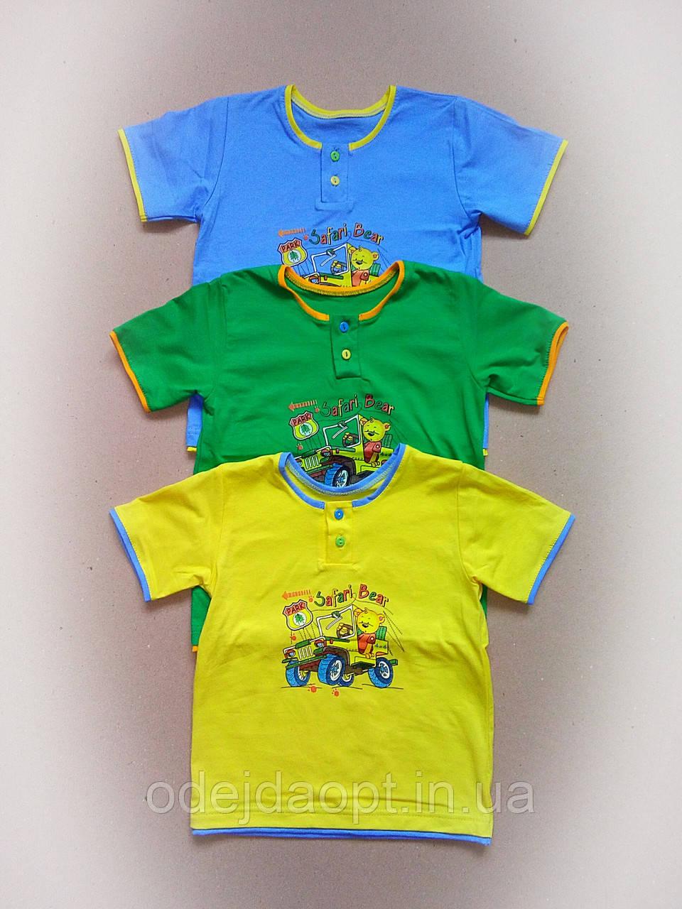 Детская футболка для мальчика от 8 месяцев