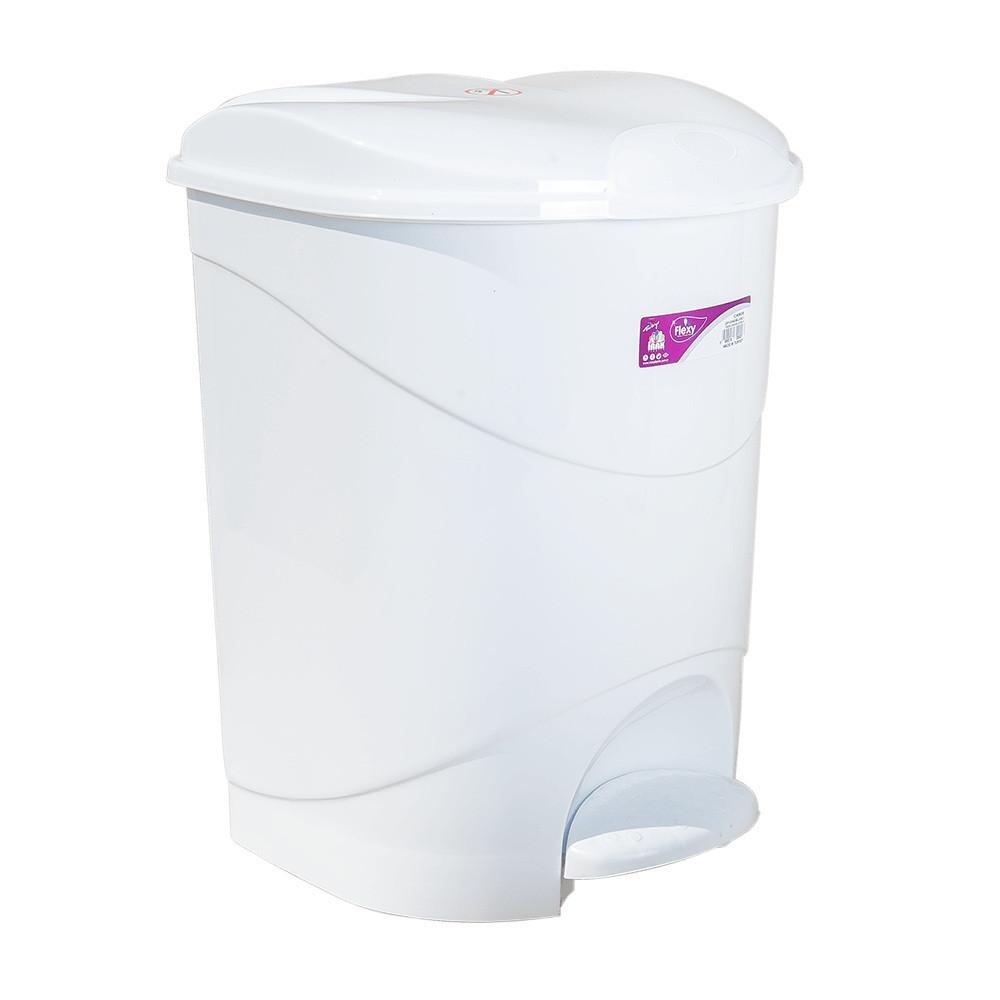 Ведро для мусора с педалью Irak Plastik Bella №1 12л белое
