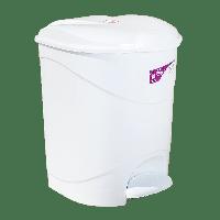 Ведро для мусора с педалью Irak Plastik Bella №2 19л белое