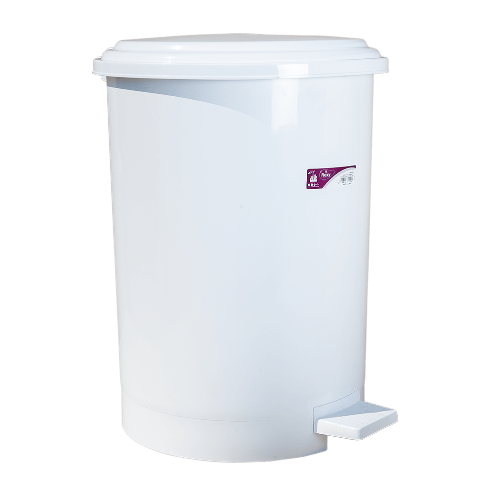 Ведро для мусора с педалью Irak Plastik №4 35л белое