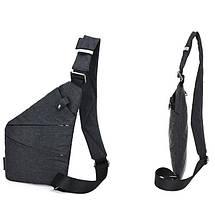 Чоловіча сумка Cross Body / Сумка Месенджер (сірий), фото 2